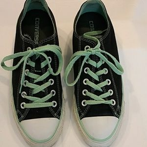 Converse Sneakers Black with Mint Green 9